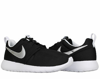 reputable site fa702 9a7bc Nike Roshe One (GS) Black Silver-White Big Kids Running Shoes 599728
