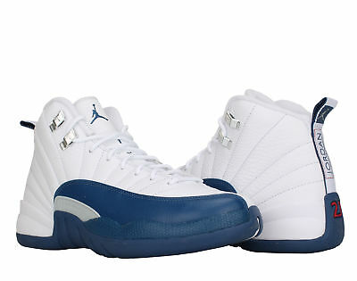 119849b9be3 Nike Air Jordan 12 Retro BG French Blue Big Kids Basketball Shoes 153265-113