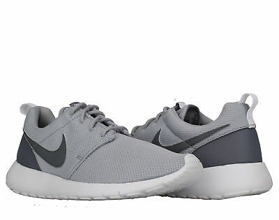 8bc10a6befaff6 NIKE ROSHE ONE GS Big Kids Running Shoes Wolf Grey White 599728-033 ...