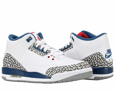 sports shoes 4da35 8a011 Nike Air Jordan 3 Retro OG BG True Blue Big Kids Basketball Shoes 854261-106