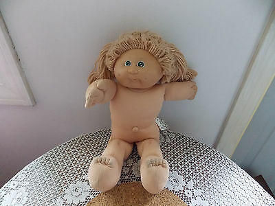 VTG Cabbage Patch Kid Doll Poodle Hair GREEN Eyes & outfit Appalacian Artworks