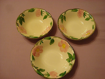 "(3) Franciscan Desert Rose 5 3/4"" Dessert Bowls-Numbered"