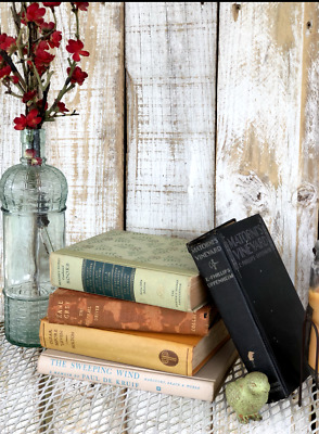 Lot of 5 ANTIQUE Old Vintage Books Collection Set UNSORTED MIXED all hardcover