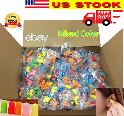 Ear Plugs Lot Bulk soft Orange Colorful foam sleep travel noise shooting earplug
