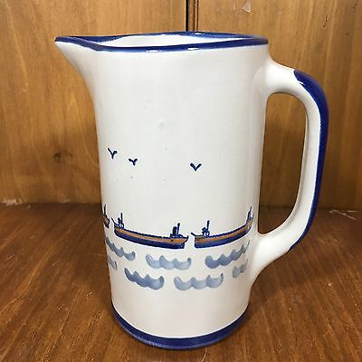 "Louisville Stoneware - CAPTAIN SPICER'S Great Lakes 7-1/2"" 36oz Pitcher"