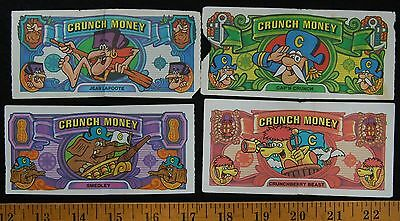 [ 1970s CAP'N CRUNCH Play Money - Crunchberry Beast, Smedley, Jean LaFoote ]