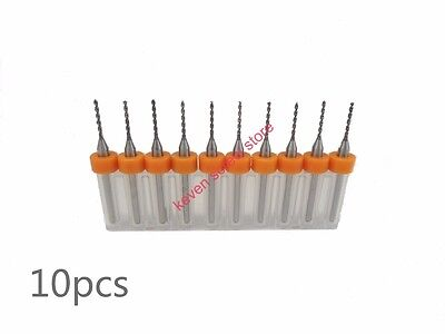 10Set PCB Print Circuit Board HM Micro Drill Bits Tool 0,2 mm CNC Parts