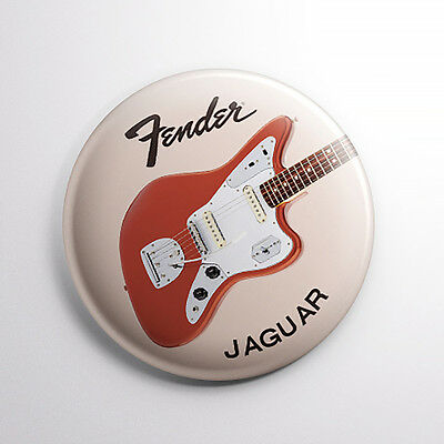 Fender Jaguar Jazzmaster Guitar Pin Button Badges Set of 3 25mm (1Inch) Diameter