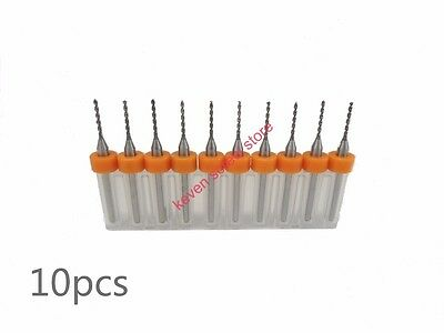 10Set PCB Print Circuit Board HM Micro Drill Bits Tool 0,1 mm CNC Parts