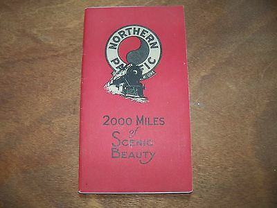 1932 Book: Northern Pacific 2000 Miles of Scenic Beauty RR Guide W/Photos & Maps