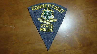 Rare Connecticut State Police Wool Patch 1940's Obsolete Patch Bx 10 #9