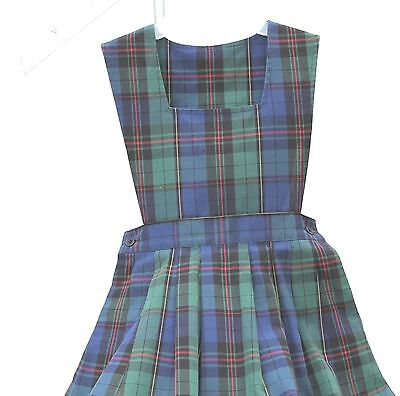 Parker School Uniform Jumper Navy Green Red Plaid Size 6   FREE SHIPPING!