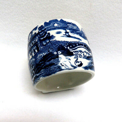 "Alfred Meakin England ""Tonquin Blue"" Transferware Footed Napkin Ring ~ MINT"