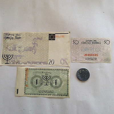 WWII Lodz Litzmannstadt Poland Jewish Ghetto Currency & Coin 1940,1943