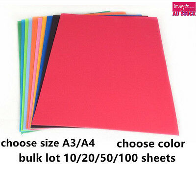 EVA Fun Craft Foam Sheet A3 A4 Assorted Color DIY Craft Paper School 2103