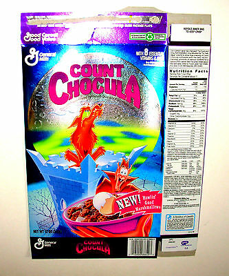 1994 COUNT CHOCULA Cereal Box Howlin' Wolf Moonlight Madness Series 13 Vintage