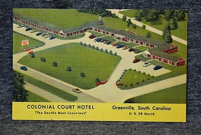 1900's Colonial Court Hotel Greenville South Carolina Postcard