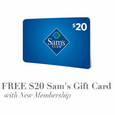 FREE $20 gift card for joining SAM S CLUB