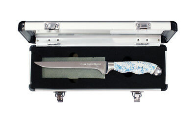 Mustad 6 Inch Titanium Coated Fillet Knife and Sharpening Stone in Gift Box