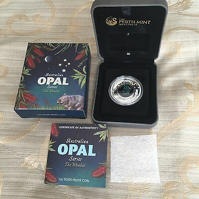 Australian Opal Series - The Wombat 2012 1oz Silver Proof Coin