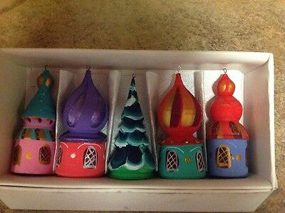Russian Christmas Ornaments Temles, Tree Beautiful Decorations