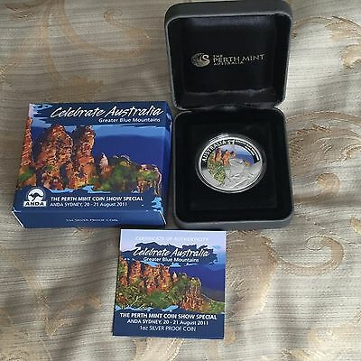 2011 Sydney ANDA Coin Show Special- Greater Blue Mountains 1oz Silver Proof Coin