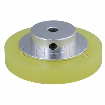 6x0.6cm Aluminum Silicone Encoder Wheel for Measuring Yellow Black