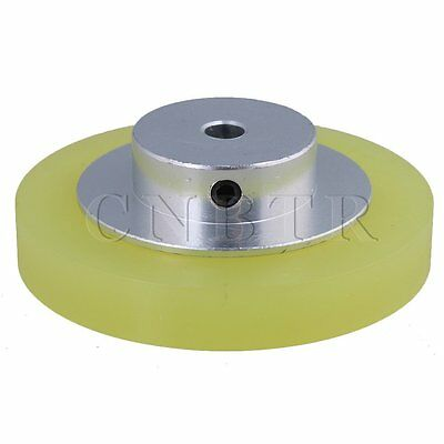 20x0.6cm Aluminum Silicone Encoder Wheel for Measuring Yellow Silver