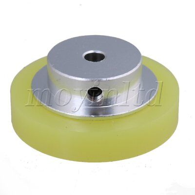 5x0.6cm Aluminum Silicone Encoder Wheel for Measuring Yellow Silver