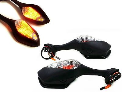 LED Turn Signal Light Rear View Mirrors For 2008-2011 Honda CBR1000RR Motorcycle