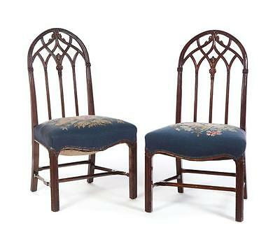 PAIR OF ENGLISH GOTHIC REVIVAL SIDE CHAIRS. Lot 25