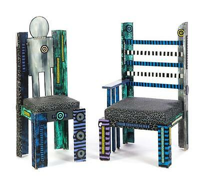 TWO CHAIRS BY WENDY CARR (AMERICAN, 20TH CENTURY). Lot 174