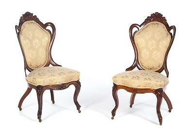 PAIR OF SIDE CHAIRS ATTRIBUTED TO JOHN HENRY BELTER. Lot 228
