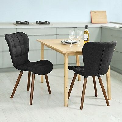SoBuy® 2 x Home Office Dining Lounge Chairs,High Back Padded Seat,FST41-DG,UK