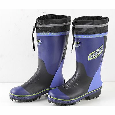 Blue Fishing Boots Shoes Wading Anti-Slip Soles Waterproof Neoprene