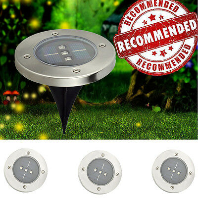 6x Solar Powered LED Buried Inground Lights Garden Outdoor Yard Path Waterproof