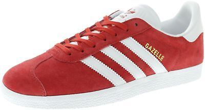 New Men's Adidas Gazelle Red/white Footwear Sneakers Shoes Runners