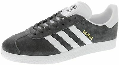New Men's Adidas Adidas Originals Gazelle Charcoal/white Footwear Sneakers Shoes