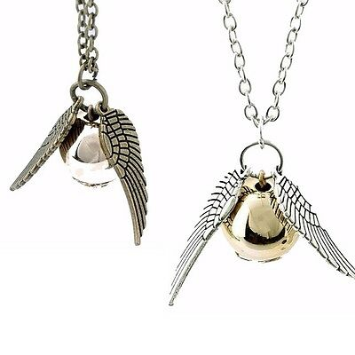 HARRY POTTER GOLDEN SNITCH PENDANT NECKLACE / Jewellery Gift Idea Quidditch