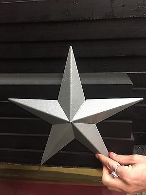 """Amish Tin Stars 10""""> Sold in Lots of 10(new) Great rustic wedding decor $3.50 ea"""
