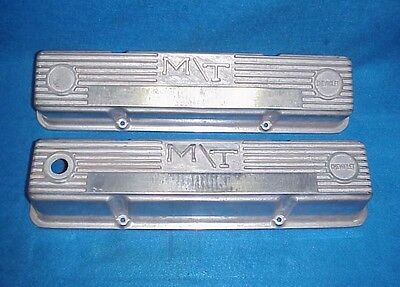 Vintage M/t Valve Covers Small Block Chevy Sbc Mickey Thompson Hot Rat Rod