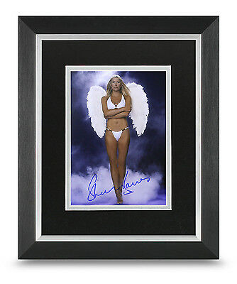 Sharron Davies Signed 10x8 Photo Display Framed Olympics Memorabilia Autograph