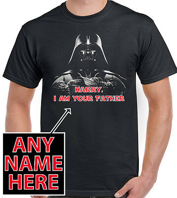 Personalised I Am Your Father Darth Vader Mens T-Shirt Star Wars Dad Fathers Day