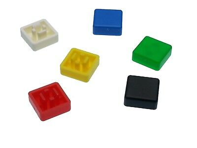 Square A66 Key Caps for 6mm Tactile Push Button Switches - 6 Colours
