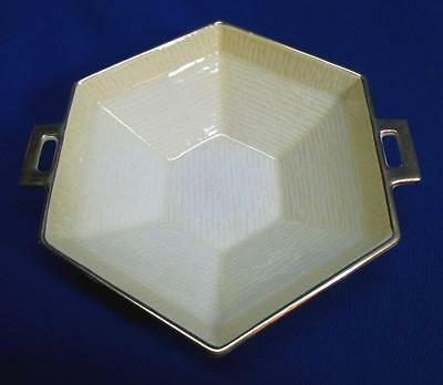 Hexagonal Handled Carlton Ware Sunny Yellow * Gold Dish
