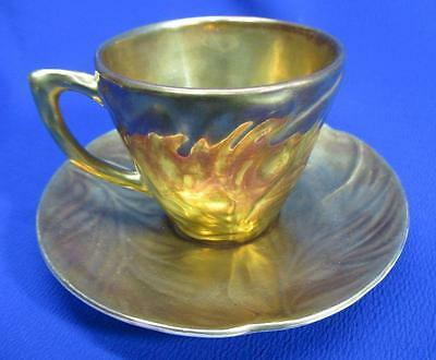 Carlton Ware Gold Irridescent Cup And Saucer Set