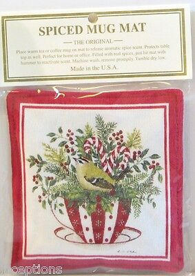 Alice's Cottage Cotton Scented Spiced Mug Mat Coaster Peppermint Teacup - NEW