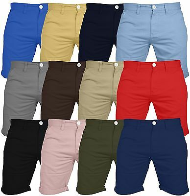 Mens Chino Shorts Casual 100% Cotton Cargo Combat Half Pant Summer Jeans New