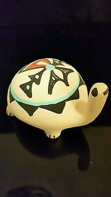 Native American Jemez Pueblo Pottery Handmade  Figurine Signed Chinana N.M #3