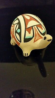 Native American Jemez Pueblo Pottery Handmade  Figurine Signed Chinana N.M #6